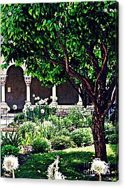 Spring Day At The Cloisters 3 Acrylic Print by Sarah Loft