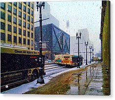 Spring Day In Chicago Acrylic Print by Dave Luebbert