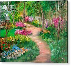 Spring Daze Acrylic Print by Sally Seago