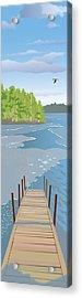 Spring Dock Acrylic Print by Marian Federspiel