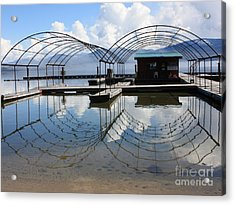 Spring Docks On Priest Lake Acrylic Print by Carol Groenen