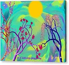 Spring Fantasy Acrylic Print by Dr Loifer Vladimir