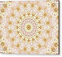 Spring Fantasy Floral Mandala Acrylic Print by Janusian Gallery
