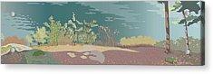Spring Flora On Lake Shore Acrylic Print by Marian Federspiel