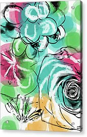 Acrylic Print featuring the mixed media Spring Floral 9- Art By Linda Woods by Linda Woods