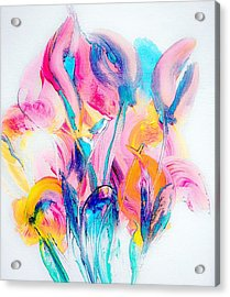 Spring Floral Abstract Acrylic Print by Lisa Kaiser