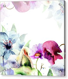 Spring Floral Background Acrylic Print