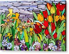 Spring Floral Mosaic Acrylic Print