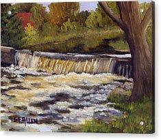 Spring Flow Acrylic Print by Sharon E Allen