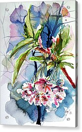 Acrylic Print featuring the painting Spring Flower by Kovacs Anna Brigitta