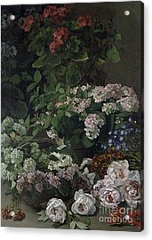 Spring Flowers Acrylic Print by Claude Monet