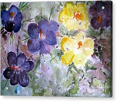 Spring Flowers Acrylic Print by Sandy McIntire