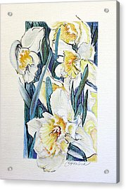 Spring Frills Acrylic Print by Carole Haslock