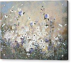 Spring Gardens Acrylic Print by Laura Lee Zanghetti