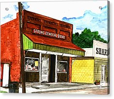 Spring General Store Sharpsburgh Iowa Acrylic Print by Kevin Callahan