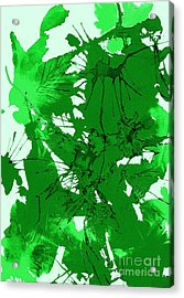 Spring Green Explosion - Abstract Acrylic Print by Ellen Levinson