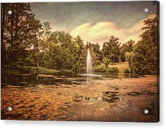 Spring Grove Water Feature Acrylic Print