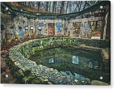 Acrylic Print featuring the photograph Spring House 2 - Paradise Springs - Kettle Moraine State Forest by Jennifer Rondinelli Reilly - Fine Art Photography