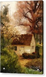 Acrylic Print featuring the digital art Spring House In The Spring by Lois Bryan