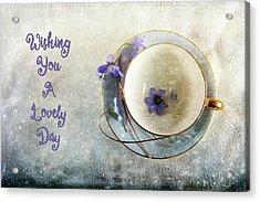 Spring In A Cup Acrylic Print by Randi Grace Nilsberg
