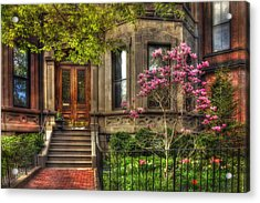 Spring In Boston - Back Bay Acrylic Print by Joann Vitali