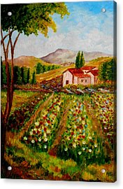 Spring In France Acrylic Print