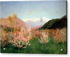 Spring In Italy Acrylic Print by Isaak Ilyich Levitan