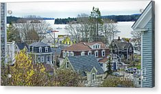 Spring In Maine, Stonington Acrylic Print by Christopher Mace