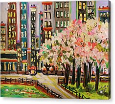 Spring In The City Acrylic Print by John Williams