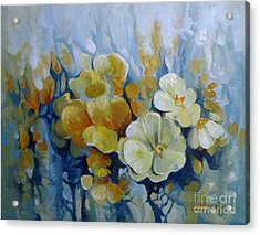 Acrylic Print featuring the painting Spring Inflorescence by Elena Oleniuc