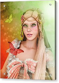 Acrylic Print featuring the digital art Spring Is In The Air by Jutta Maria Pusl