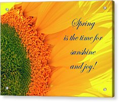 Spring Is The Time Acrylic Print
