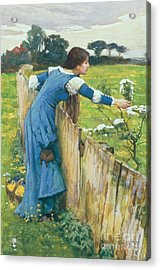 Spring Acrylic Print by John William Waterhouse