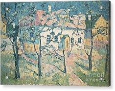 Spring Acrylic Print by Kazimir Severinovich Malevich