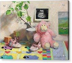 Spring Lambs Acrylic Print by Anna Rose Bain
