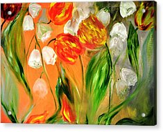 Spring Mood Acrylic Print by Evelina Popilian