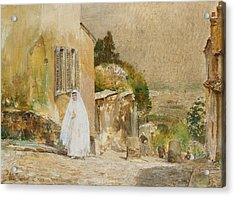 Spring Morning At Montmartre Acrylic Print by Childe Hassam