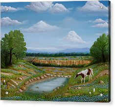 Acrylic Print featuring the painting Spring Morning by Gene Gregory