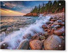 Spring Morning In Acadia National Park Acrylic Print by Rick Berk