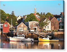 Spring Morning In Portsmouth South End Acrylic Print by Eric Gendron