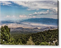 Acrylic Print featuring the photograph Spring Mountains Desert View by Michael Rogers