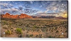 Spring Mountains Sunrise Acrylic Print