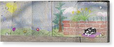 Spring Mural Acrylic Print by Crescentia Mello and Raine Schmitt