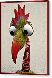 Spring Neck Bird In Metal Acrylic Print