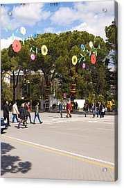 Spring On Deshmoret E Kombit Boulevard Acrylic Print by Rae Tucker