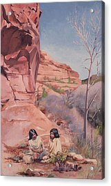 Spring On The Escalante Acrylic Print by Lester Nielsen
