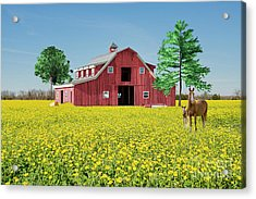 Spring On The Farm Acrylic Print by Bonnie Barry