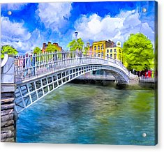 Spring On The Liffey - Historic Dublin Acrylic Print