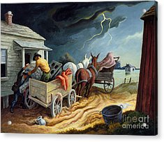 Acrylic Print featuring the painting Spring On The Missouri by Thomas Hart Benton