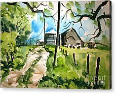 Spring On The Ridge Matted Glassed Framed Acrylic Print by Charlie Spear